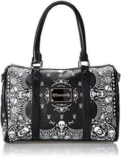 Loungefly LF Bandana Skull Duffle Bag #skulls #skullbag more at http://skullclothing.net