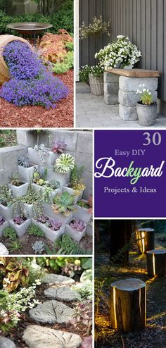 Easy DIY Backyard Projects and Ideas.