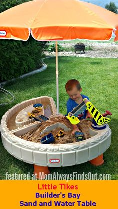 Little Tikes Sand and Water Table Review. Best outdoor activity table ever! We love it. #ad