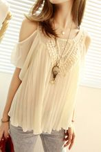 Whispy spring/summer beige top - Aliexpress.com