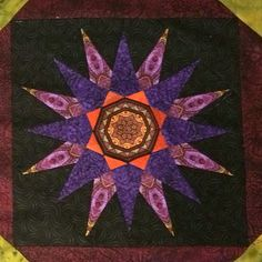 Block 7 Solstice Quilt from Jinny Beyer with border frame Foundation Piecing, Paper Piecing, Quilting Projects, Frame, Instagram Posts, Pattern, Painting, Art, Mandalas