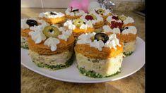 Шикарная Новая Закуска Для Новогоднего Стола / Закусочные пирожные Cheesecake, Muffin, Pudding, Breakfast, Desserts, Recipes, Food, Youtube, Morning Coffee