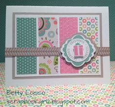 Happy Birthday card using CTMH Lollydoodle Paper
