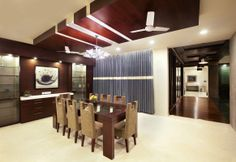 Dining Area Cum Open Kitchen With Wooden Furniture Design By Interior Designer Deep And Hana