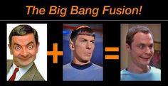 I love this! Mr. Bean + Spock = Sheldon