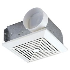 Progress Lighting Square Bath Exhaust Ceiling Fan For Rooms Up To      Bathroom Fans   Bathroom Fixtures   Bed U0026 Bath