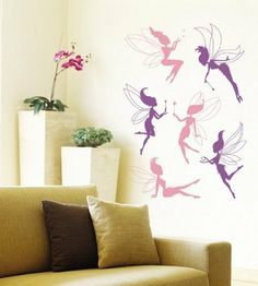 6 Deluxe Fairy Wall Stickers - Removable and Repositionable - Girls / Kids Bedroom from Wall Stickers Warehouse , http://www.amazon.co.uk/dp/B0075TIDT4/ref=cm_sw_r_pi_dp_u7wCsb0WARWT9