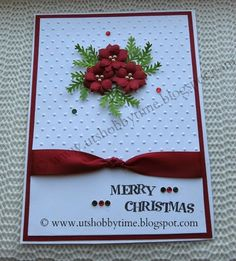 UTs Hobby Time***: Christmas Card and Handmade Poinsettia Paper ...