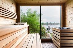 AUSSENSAUNA | Deisl – Gesundes Vertrauen in Holz Sauna Steam Room, Sauna Design, Architecture Design, Deck, Relax, Patio, Interior Design, Building, Outdoor Decor