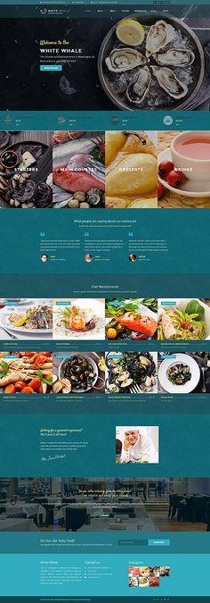 Seafood & Shrimp Restaurant #Wordpress #template. #themes #business #responsive #Wordpressthemes