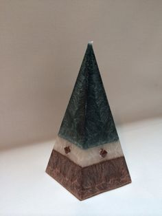 Vegan Wax Pyramid Candle Studded by Corscandles on Etsy