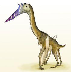 """""""Quetzalcoatlus sp."""" by Eurwentala.deviantart.com.  The azhdarchid pterosaur Quetzalcoatalus."""