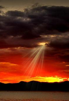 God's spotlight..