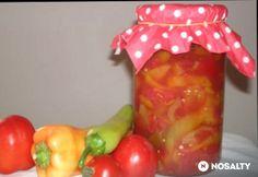 Natúr lecsó tartósító nélkül télire Watermelon, Stuffed Peppers, Canning, Fruit, Vegetables, Food, Automata, Ideas, Meal