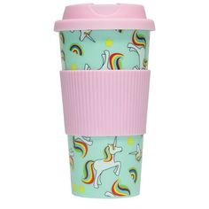 Amazon.com: Unicorn Travel Mug: Kitchen & Dining (€7,62) ❤ liked on Polyvore featuring home, kitchen & dining, drinkware and unicorn travel mug