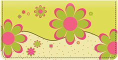 Crazy Daisy is a wild and colorful new design featuring bursts of daisy patterns that are sure to brighten up your day. Select this happy design as your new checkbook cover today!