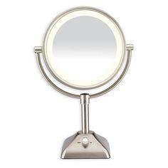 ConairR Variable Lighted 1X 10X Mirror In Satin Nickel