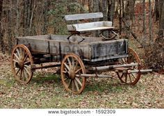 Old Wooden Wagon Stock Photo & Stock Images   Bigstock