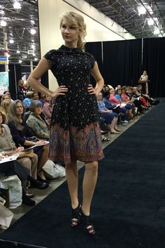 McCall's dress M6989 by Melissa Watson. As seen at the 2014 American Sewing Expo.