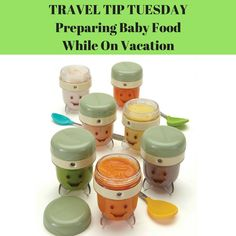 Tips for preparing pureed solids for babies while traveling.
