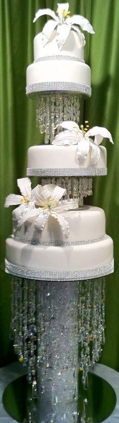 Crystal waterfalls cake