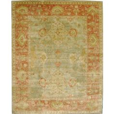 Found it at Wayfair - Ottoman Hand-Knotted Orange/Green Area Rug