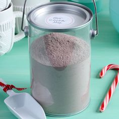 DIY Hot Cocoa Mix Recipe | Taste of Home Recipes (this uses dry milk AND nondairy creamer, but also calls for chocolate pudding mix, which I can't use)