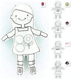 These would make the cutest paper dolls!  SO cute!!!