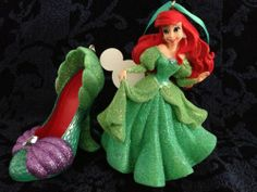 Disney Ariel Little Mermaid Figure and Ariel Shoe Ornament Set. Very cute gift for the Ariel fan!