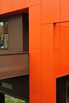 Painted  fiber cement panels