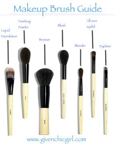 GivenChic Girl: makeup brush guide