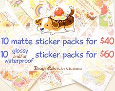 Planner Sticker Set. Erin Condren Sticker. by BeagleCakesArt #stickers #planner #scrapbook #handmade #etsy #kawaii #plannerstickers