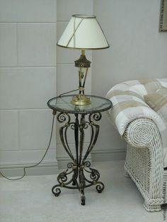 Купить Столик - черный, Ковка, кованый столик, стекло, кованая мебель, кованые изделия