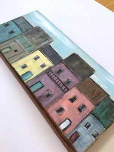 FREE SHIPPING, Wood Wall Art, Reclaimed Wood, Small Town, Row Homes, Original Art, Abstract Art, shelf art, woodscape art, Neighborhood by WoodScapeArt on Etsy https://www.etsy.com/listing/614447097/free-shipping-wood-wall-art-reclaimed