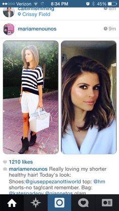 Hair cut from Maria menunos Instagram