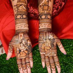 Get the best wedding mehndi design inspiration here. Check the best and latest mehndi design pictures at WeddingsOnlyfor your wedding function. Rajasthani Mehndi Designs, Latest Bridal Mehndi Designs, Modern Mehndi Designs, Mehndi Design Pictures, Unique Mehndi Designs, Wedding Mehndi Designs, Beautiful Henna Designs, Dulhan Mehndi Designs, Arabic Mehndi Designs
