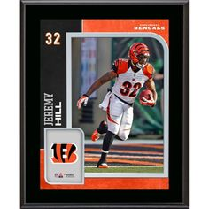 "Jeremy Hill Cincinnati Bengals Fanatics Authentic 10.5"" x 13"" Sublimated Player Plaque - $29.99"