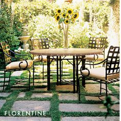 I REALLY like the idea of this kind of patio. The furniture is okay and we can get rid of the flowers...