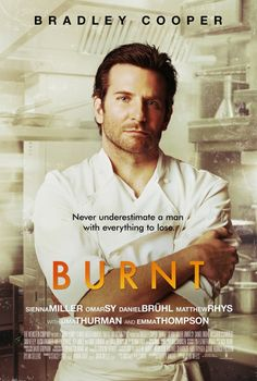 Netflix movie A GREAt movie with the lovely Bradley Cooper. Full of passion, drama, and food; what dreams are made of in the kitchen. BURNT movie poster w/ Bradley Cooper 2015 Movies, Hd Movies, Movies To Watch, Movies Online, Movies And Tv Shows, Movies Free, Latest Movies, Bradley Cooper, Sienna Miller