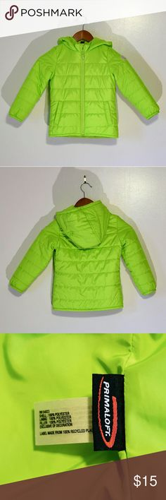 GAP KIDS Green Primaloft Puffer Jacket It seems that Winter's coming early this year! Keep your little one warm with this lime green primaloft puffer jacket. Excellent condition!   ☀ 20% off Bundles of 3 or More ☀ GAP Jackets & Coats Puffers