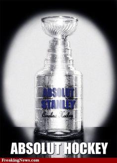 absolut stanley Lord Stanley Cup, Hockey Stanley Cup, Hockey Playoffs, Hockey Pictures, Hockey Rules, Red Wings Hockey, Absolut Vodka, Vodka Bottle, Card Making