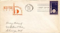 Dr Jim Stamps US Cover First Day Issue New York Worlds Fair 1939 | eBay