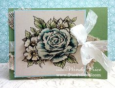images stampendous rose cluster | Supplies Used: Stampendous ( Cling Rose Cluster ), Beacon (Fast Finish ...