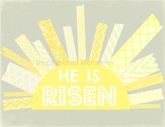 Framed Christian Easter Sun Print  He is by inspirationalmemory, $11.99