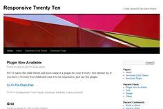 La plantilla gratis Responsive Twenty Ten de WordPress fue creada por Responsive Twenty Ten con diseño líquido (Responsive Web Design).
