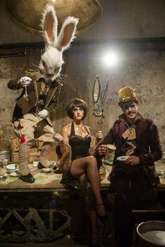 #steampunk, Steampunk Alice in Wonderland, #aliceinwonderland, circus goth, steampunk circus