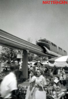 "stuff from the park.com - 1959 photo by ""matterhorn"" of the newly opened monorail ride, Disneyland, Anaheim, CA"