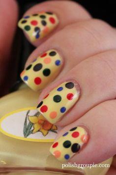 Polka Dot Nail Art inspired by the book Put Me in the Zoo by Robert Lopshire Polka Dot Art, Dot Nail Art, Polka Dot Nails, Polka Dots, Nails Inc, Gel Nails, Acrylic Nails, Toenails, Nail Polishes