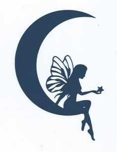 Moon fairy silhouette by hilemanhouse on Etsy