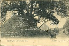 Lord's Prayer Rock, South Side Drug Store, Bristol, Vermont
